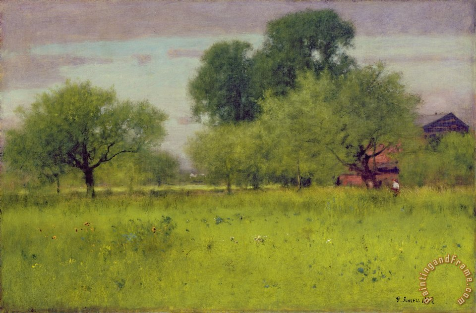 George Snr Inness Apple Orchard Art Print