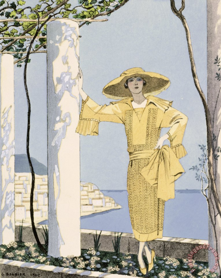 Georges Barbier Amalfi Art Print