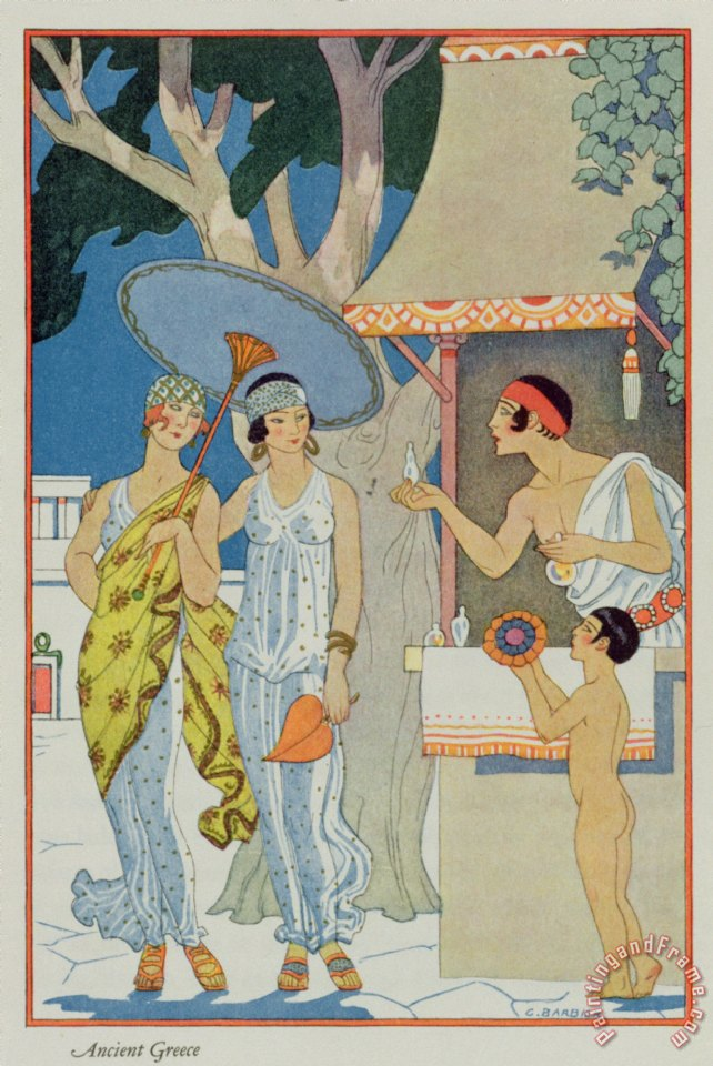 Ancient Greece painting - Georges Barbier Ancient Greece Art Print