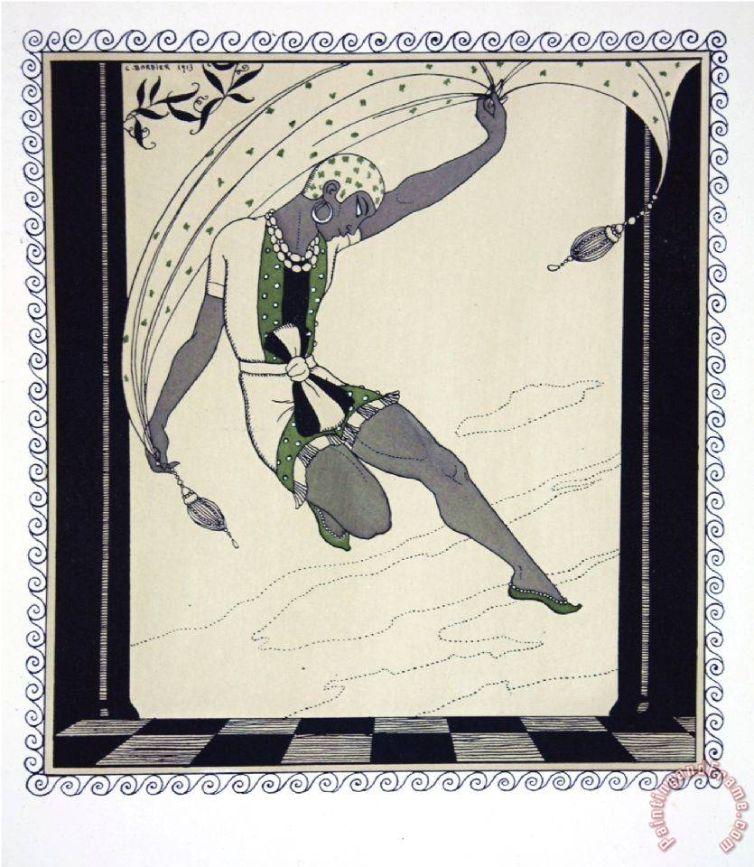 Cleopatre From The Series Designs on The Dances of Vaslav Nijinsky painting - Georges Barbier Cleopatre From The Series Designs on The Dances of Vaslav Nijinsky Art Print