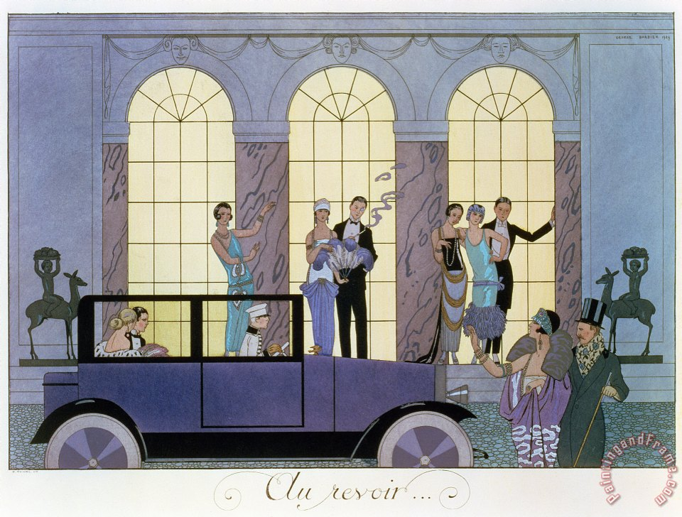 Farewell painting - Georges Barbier Farewell Art Print