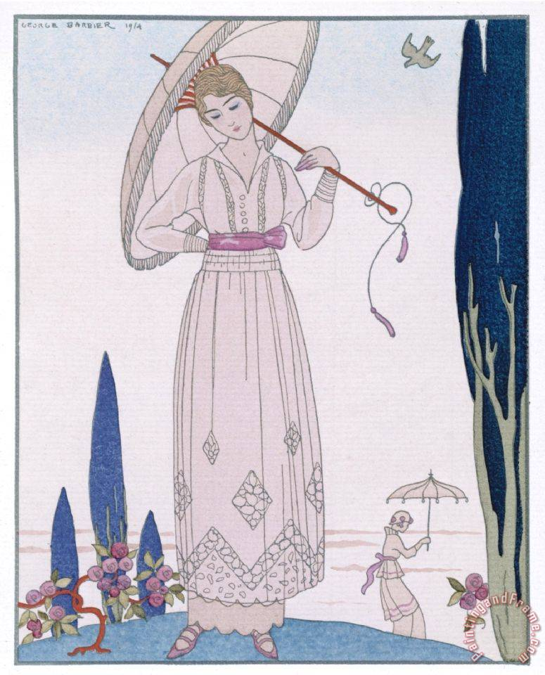 Summer Tunic Dress painting - Georges Barbier Summer Tunic Dress Art Print