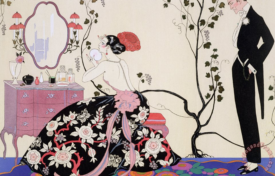 The Backless Dress painting - Georges Barbier The Backless Dress Art Print