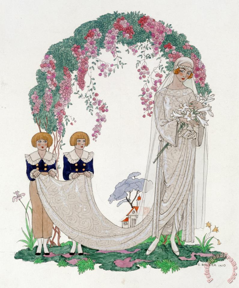The Bride painting - Georges Barbier The Bride Art Print