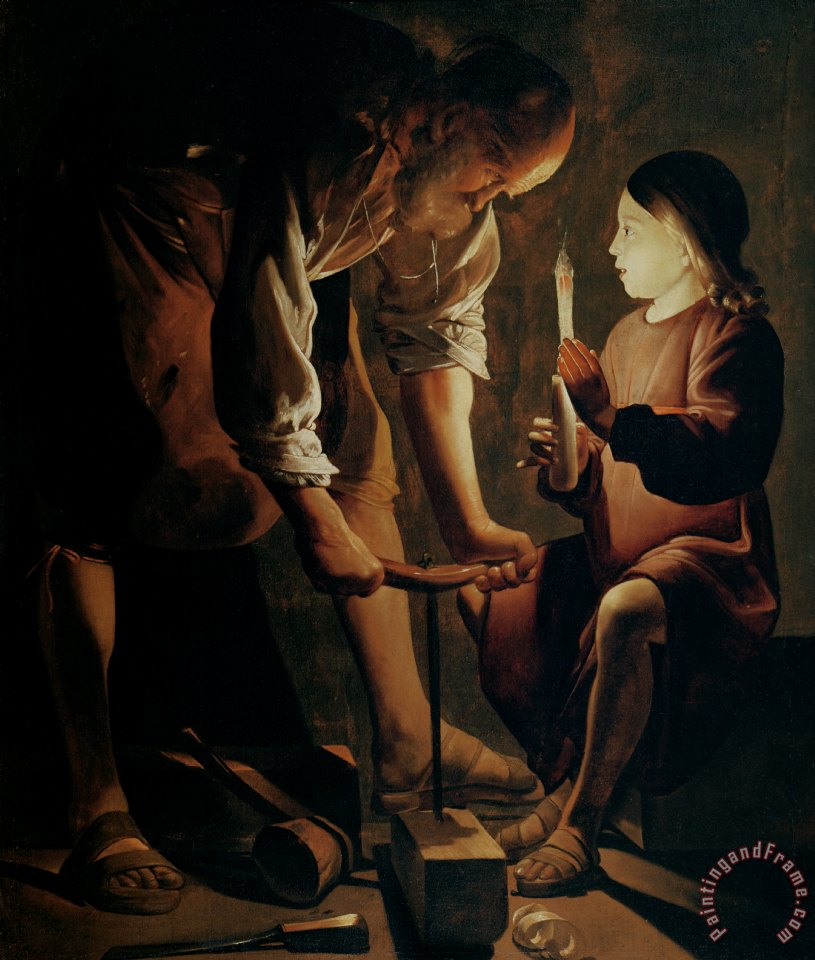 Saint Joseph the Carpenter painting - Georges de la Tour Saint Joseph the Carpenter Art Print
