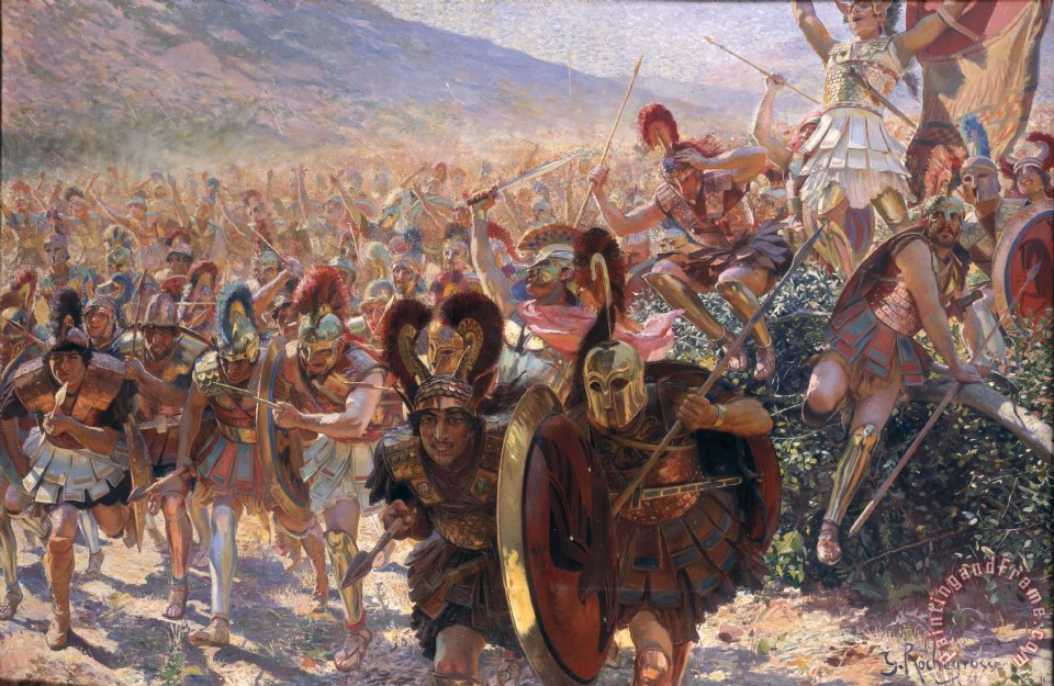 Ancient Warriors painting - Georges Marie Rochegrosse Ancient Warriors Art Print