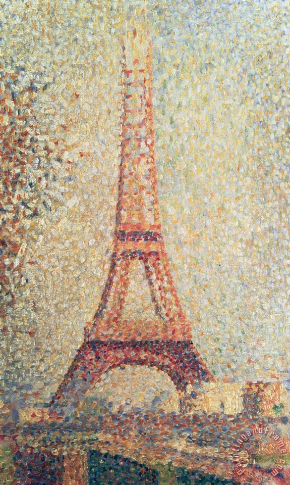 The Eiffel Tower painting - Georges Pierre Seurat The Eiffel Tower Art Print
