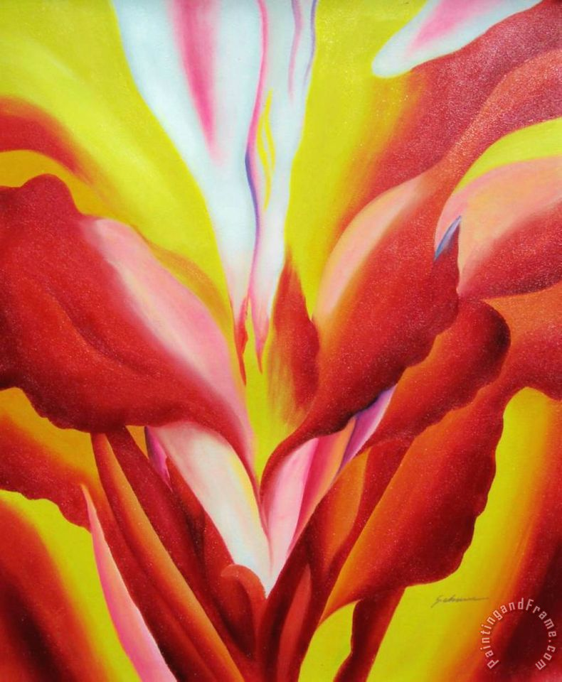 Flowers of Fire painting - Georgia O'keeffe Flowers of Fire Art Print