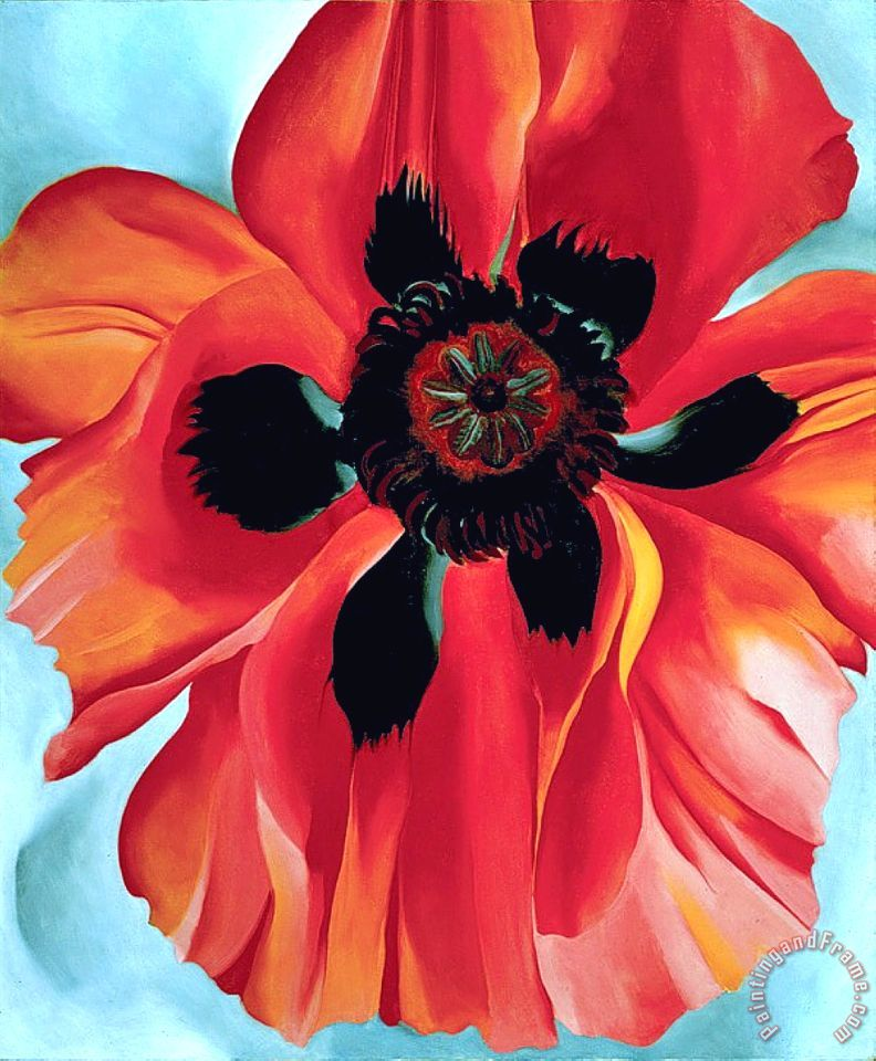 Georgia okeeffe red poppy vi painting red poppy vi print for sale red poppy vi painting georgia okeeffe red poppy vi art print mightylinksfo