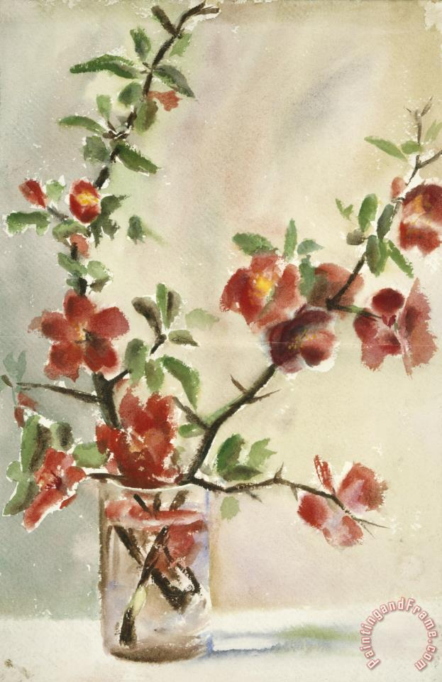 Georgia O Keeffe Untitled Vase Of Flowers Painting