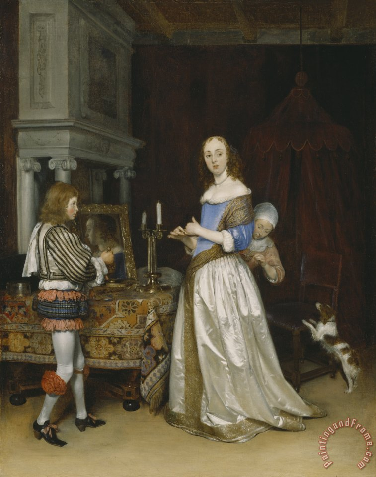 Lady at her Toilette painting - Gerard ter Borch  Lady at her Toilette Art Print