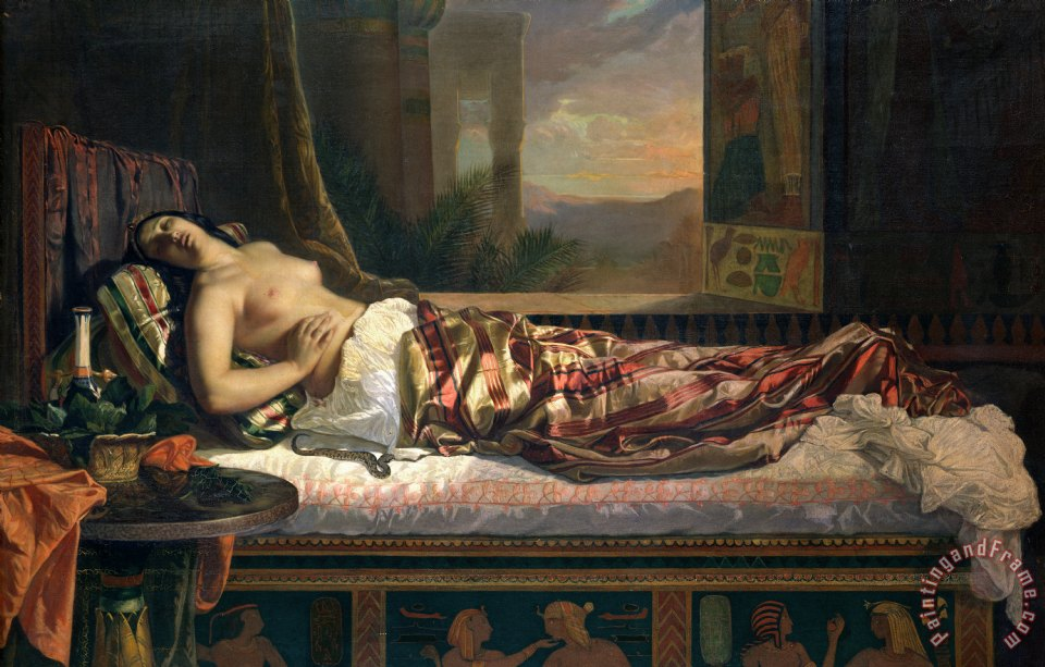 The Death of Cleopatra painting - German von Bohn The Death of Cleopatra Art Print