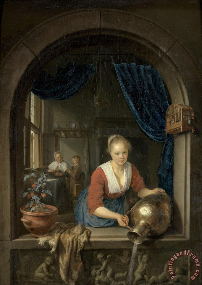 Gerrit Dou Maid at The Window Art Painting