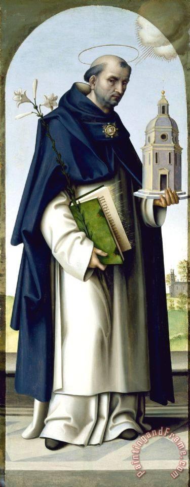 Giovanni Battista Bertucci Saint Thomas Aquinas Painting