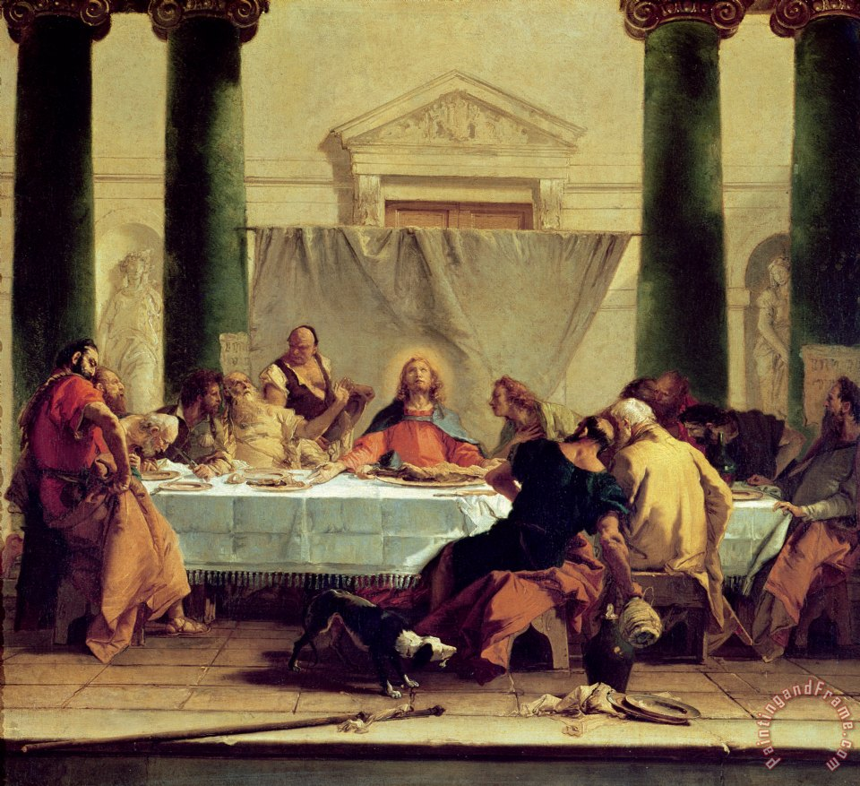 Giovanni Battista Tiepolo The Last Supper Painting The
