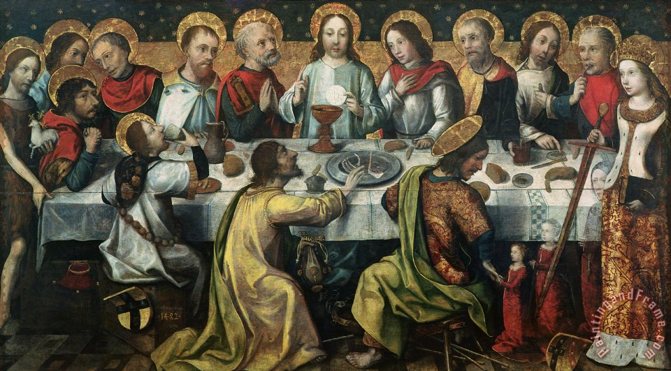 godefroy the last supper painting the last supper print for sale