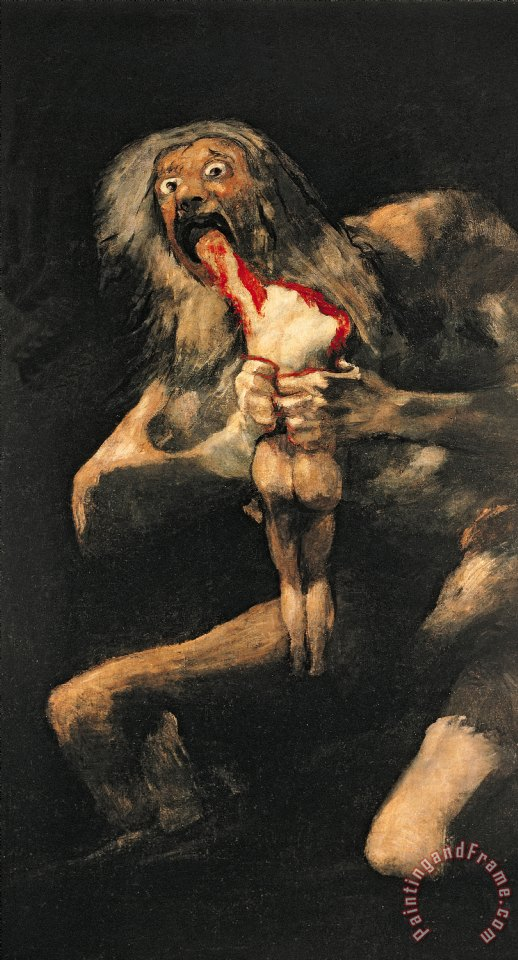 Saturn Devouring one of his Children painting - Goya Saturn Devouring one of his Children Art Print