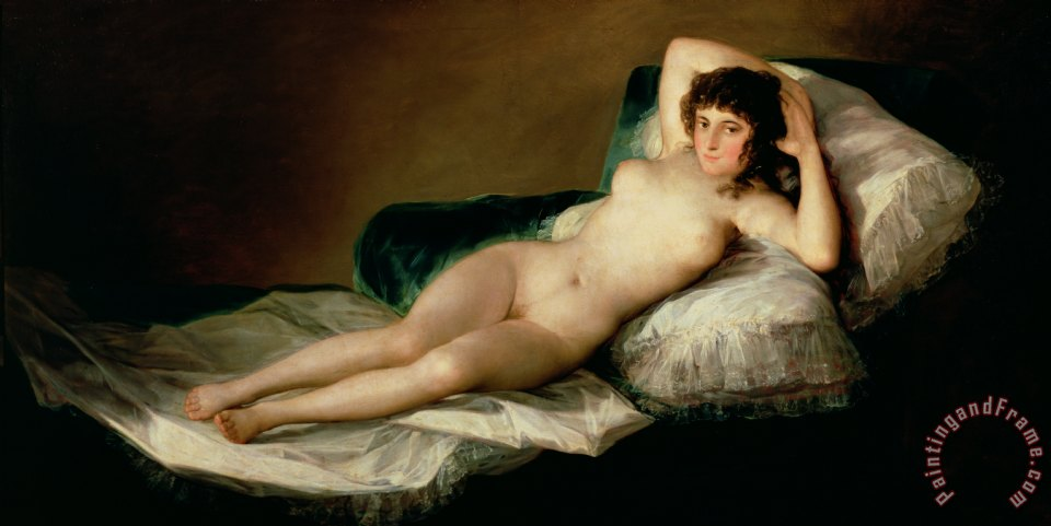 The Naked Maja painting - Goya The Naked Maja Art Print