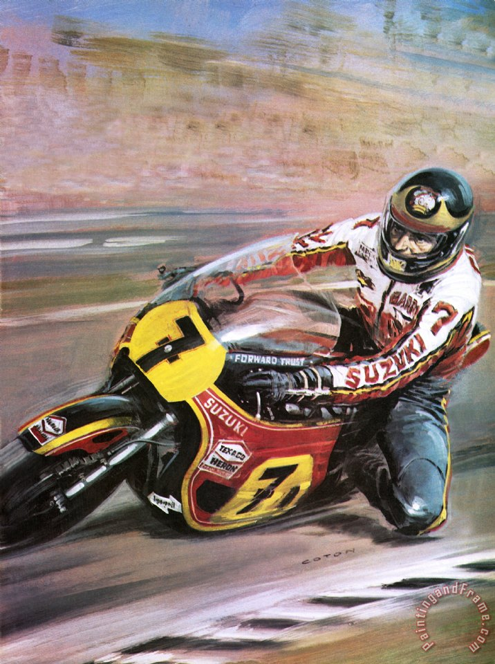 Graham Coton Motorcycle racing Art Print