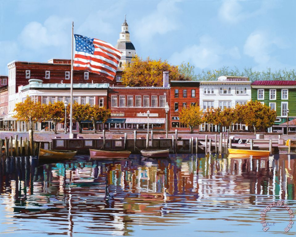 Annapolis painting - Collection 7 Annapolis Art Print