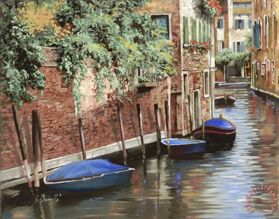 Barche A Venezia painting - Collection 7 Barche A Venezia Art Print