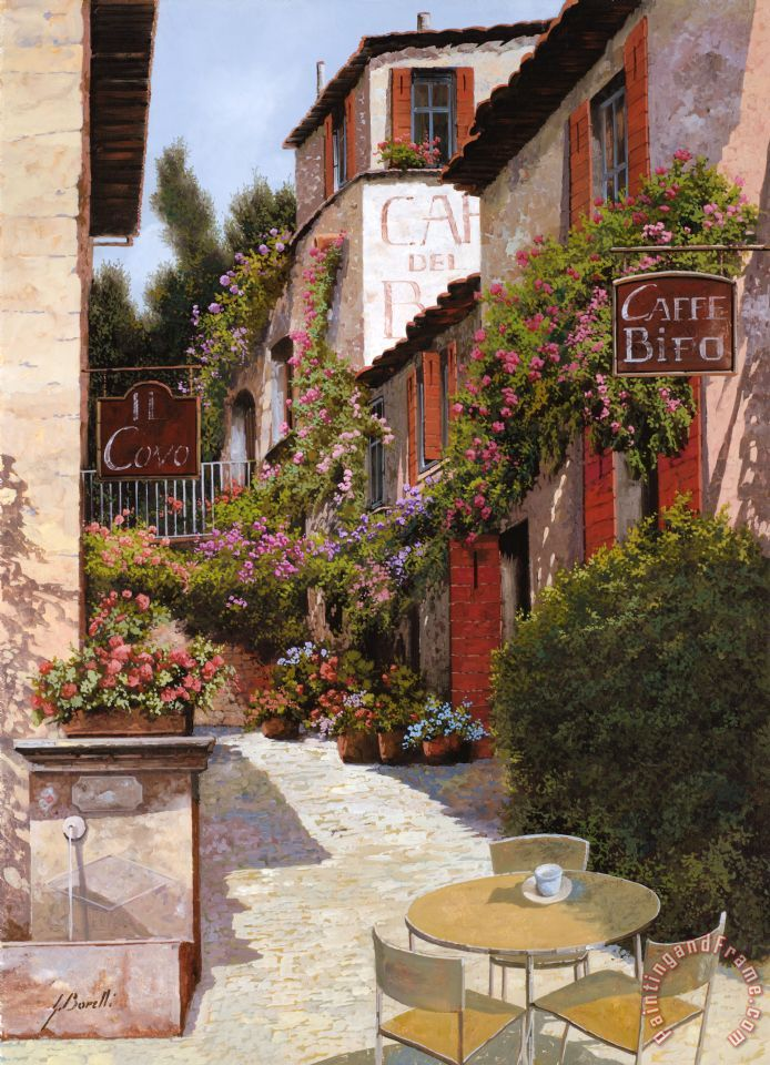 Cafe Bifo painting - Collection 7 Cafe Bifo Art Print
