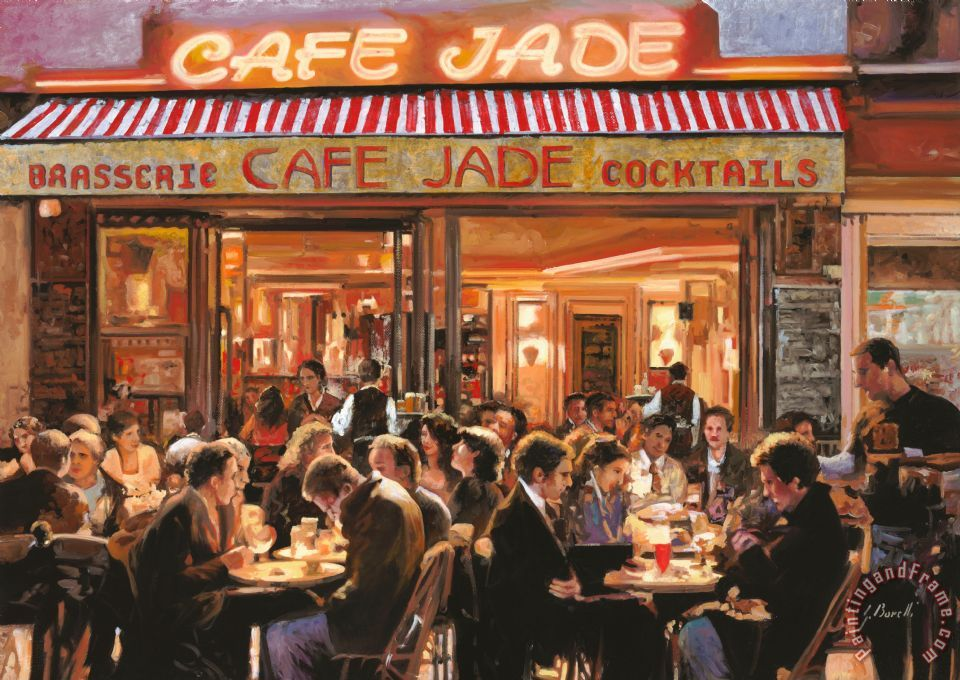 Cafe Jade painting - Collection 7 Cafe Jade Art Print