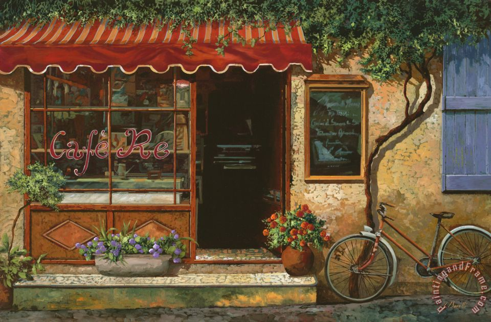 caffe Re painting - Collection 7 caffe Re Art Print