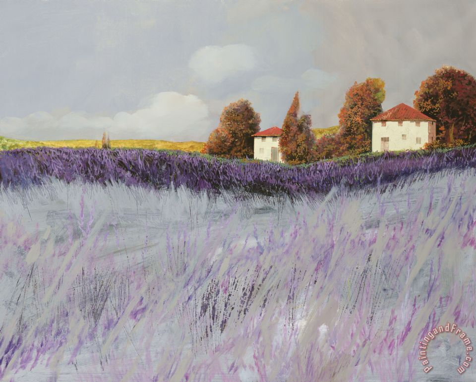 I Campi Di Lavanda painting - Collection 7 I Campi Di Lavanda Art Print