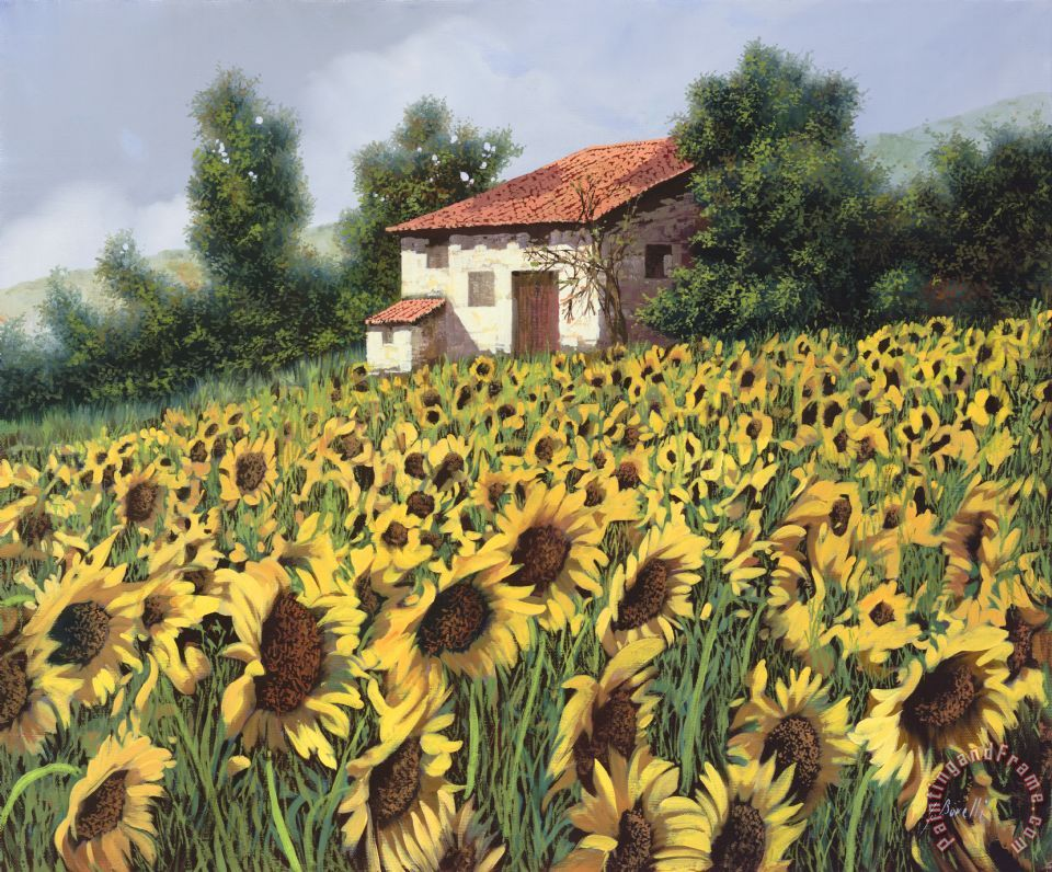 I Girasoli Nel Campo painting - Collection 7 I Girasoli Nel Campo Art Print