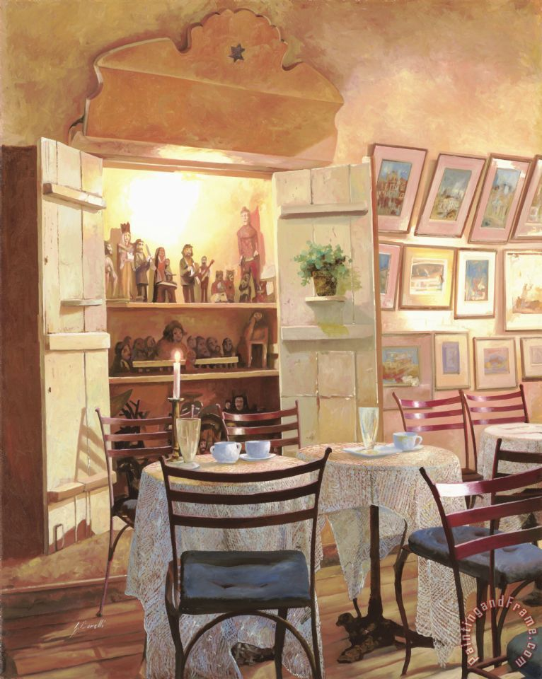 Il Caffe Dell'armadio painting - Collection 7 Il Caffe Dell'armadio Art Print