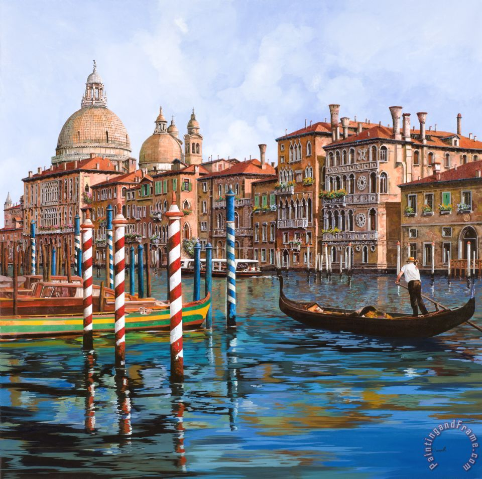 Il Canal Grande painting - Collection 7 Il Canal Grande Art Print
