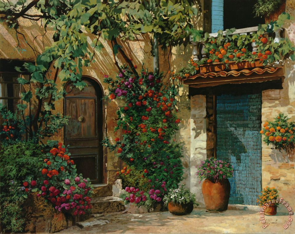 Collection 7 il giardino francese painting il giardino - Giardino francese ...