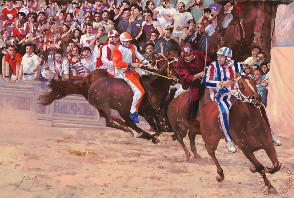 La Corsa Del Palio painting - Collection 7 La Corsa Del Palio Art Print