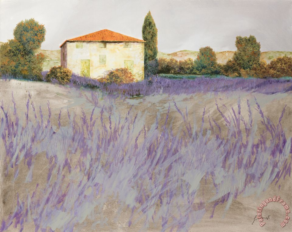 Lavender painting - Collection 7 Lavender Art Print
