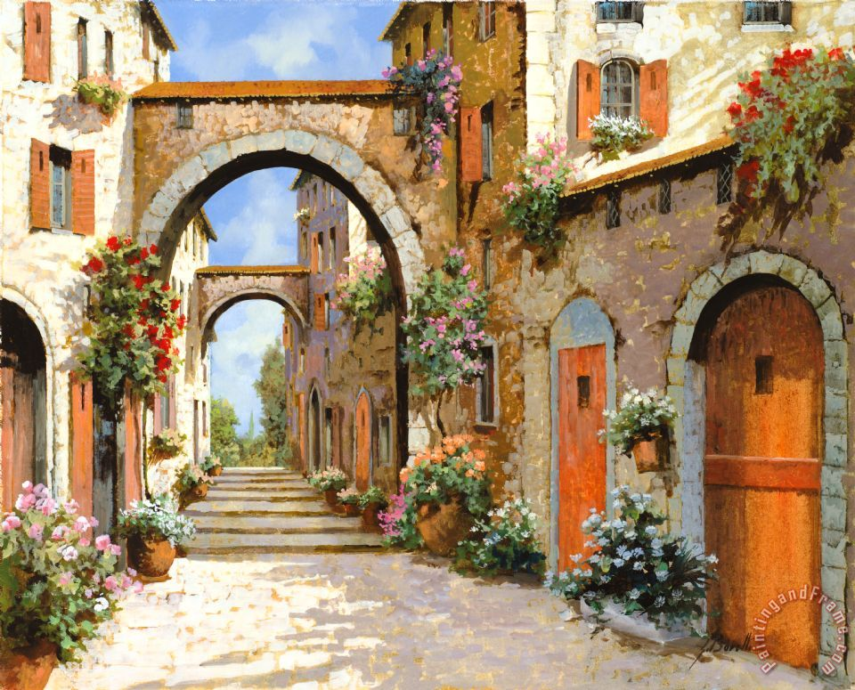 Collection 7 le porte rosse sulla strada painting le for Porte spanish