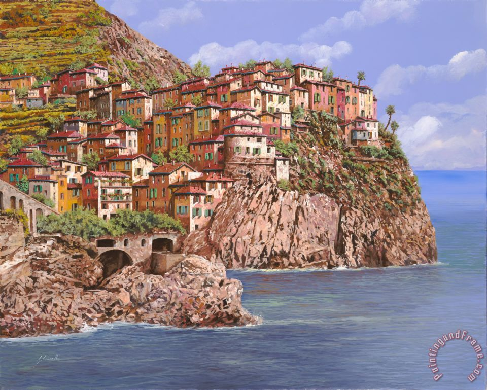 Manarola painting - Collection 7 Manarola Art Print