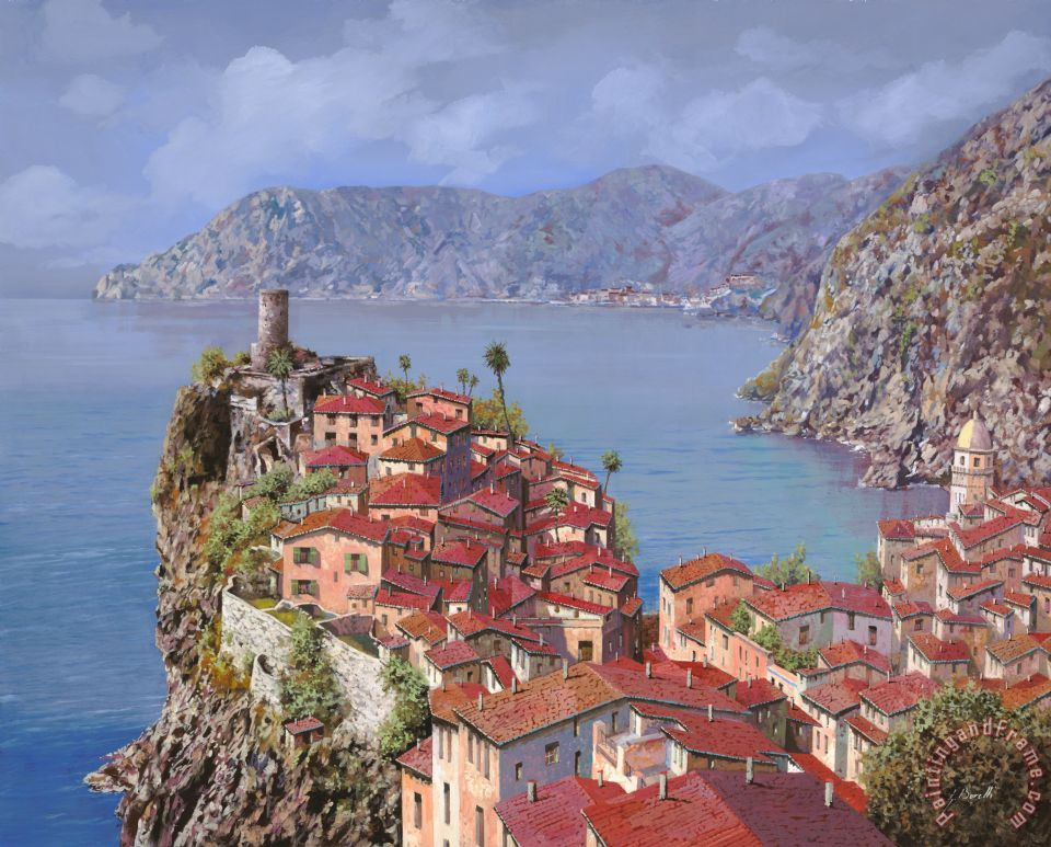 Vernazza-Cinque Terre painting - Collection 7 Vernazza-Cinque Terre Art Print