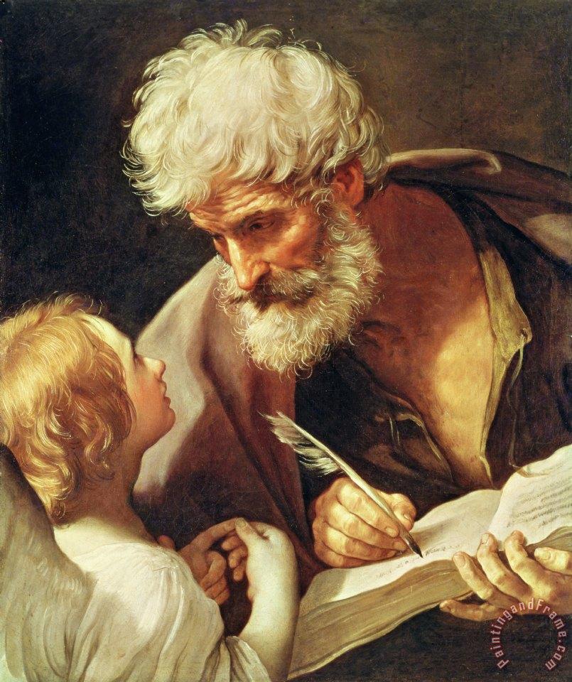 Guido Reni Saint Matthew Art Painting - 182.1KB