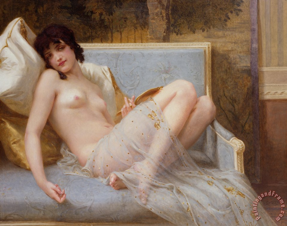 Indolence painting - Guillaume Seignac Indolence Art Print