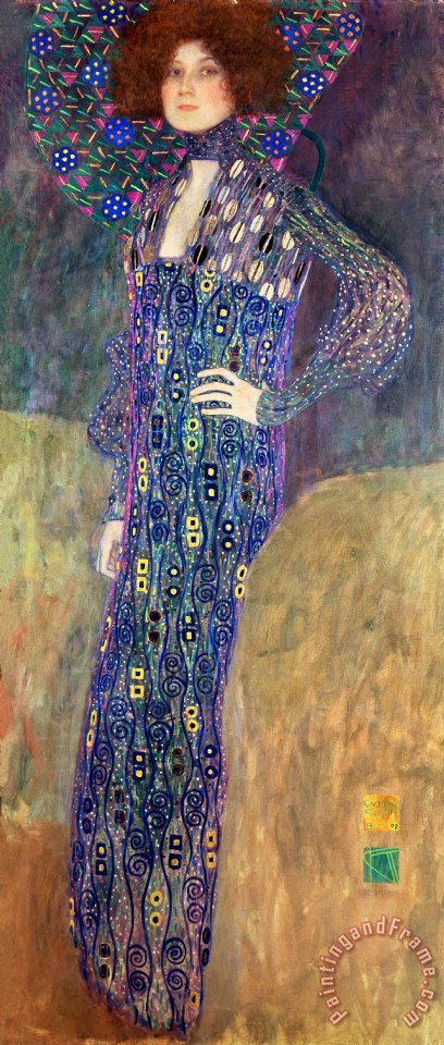 Gustav klimt emilie floege painting emilie floege print for Gustav klimt original paintings for sale
