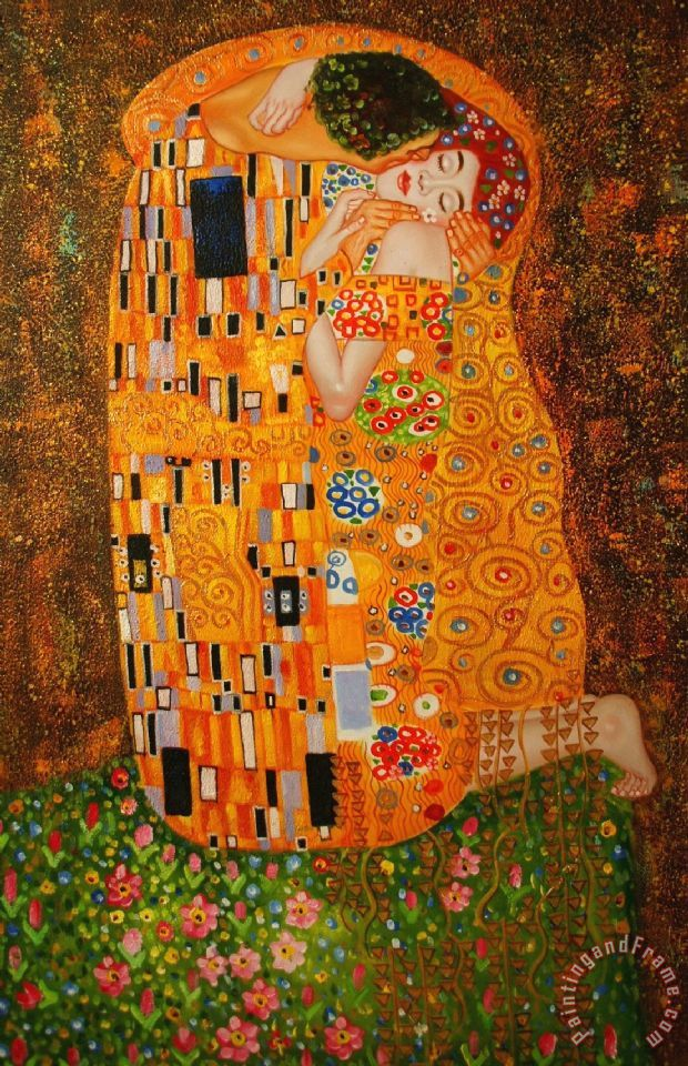 Gustav Klimt The Kiss Painting The Kiss Print For Sale