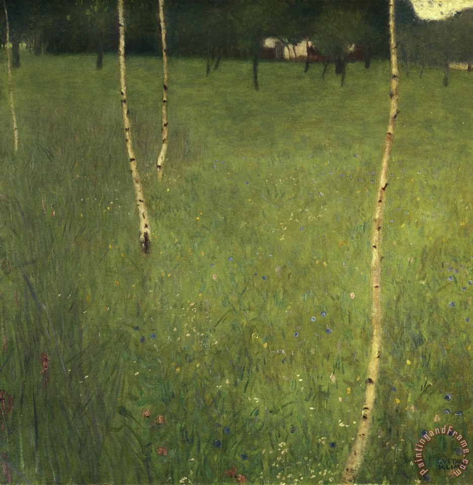 Farmhouse with Birch Trees painting - Gustav Klimt Farmhouse with Birch Trees Art Print
