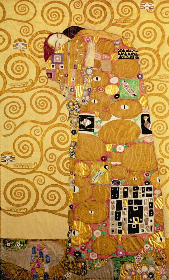 Gustav Klimt Fulfilment Stoclet Frieze Art Print