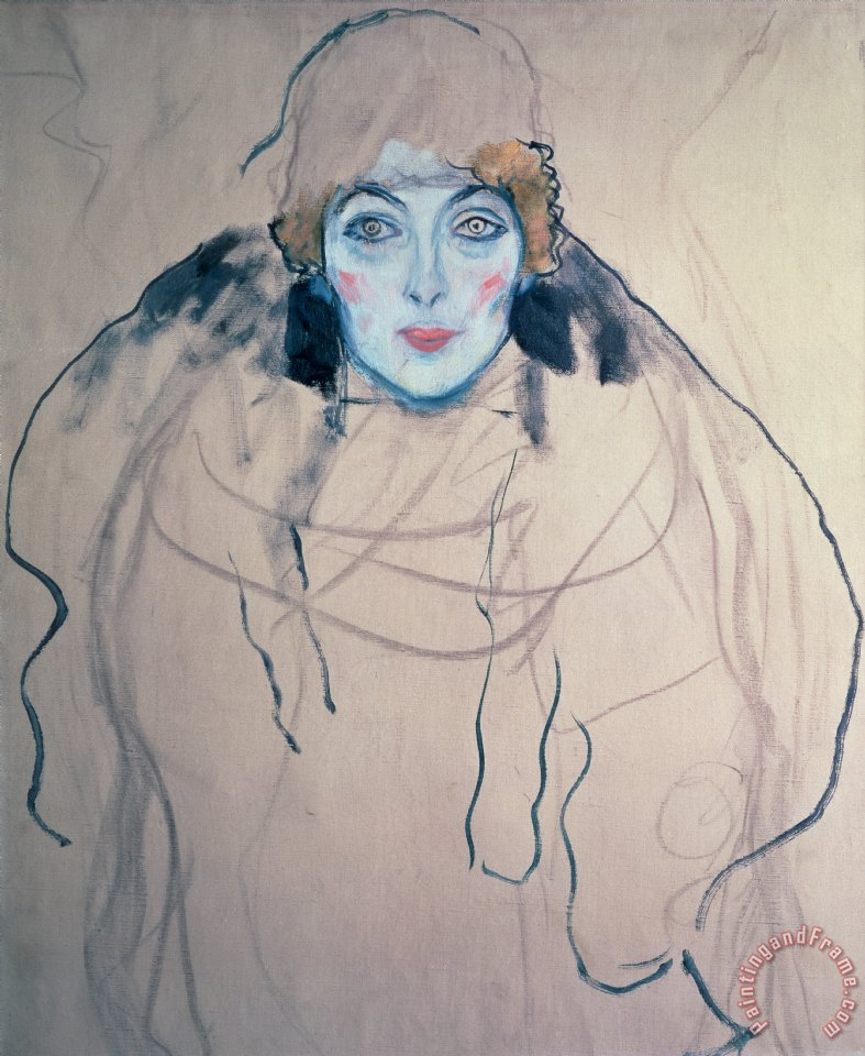 Head of a Woman painting - Gustav Klimt Head of a Woman Art Print
