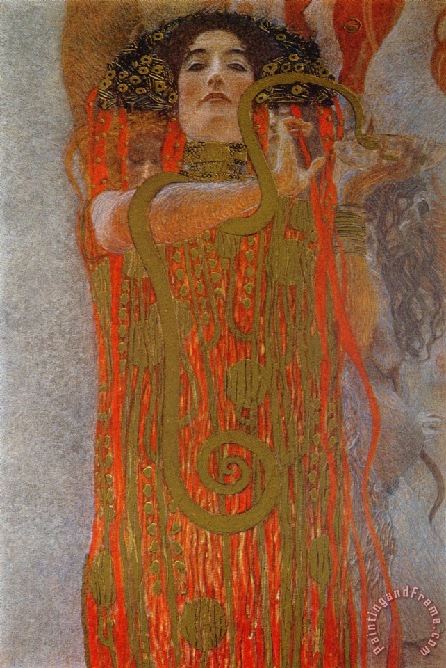 Gustav klimt hygieia painting hygieia print for sale for Gustav klimt original paintings for sale