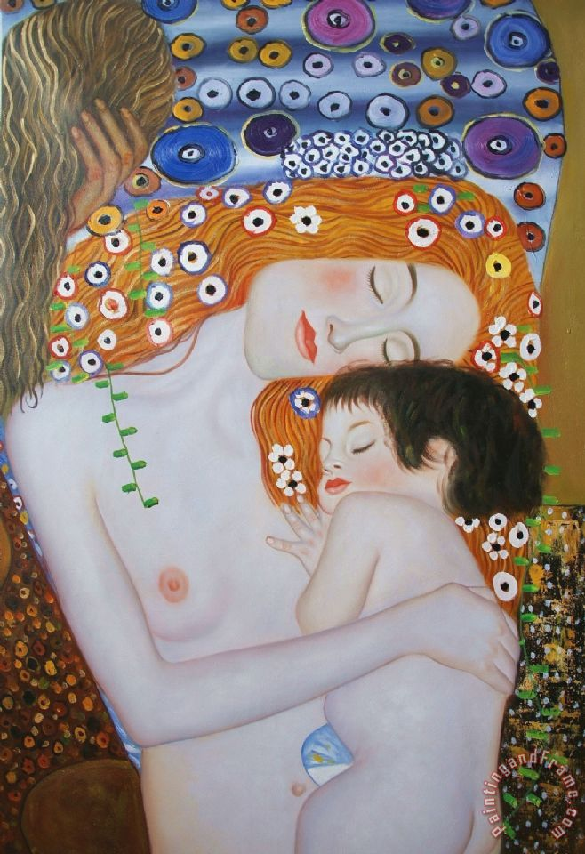 Mother And Child Ii painting - Gustav Klimt Mother And Child Ii Art Print