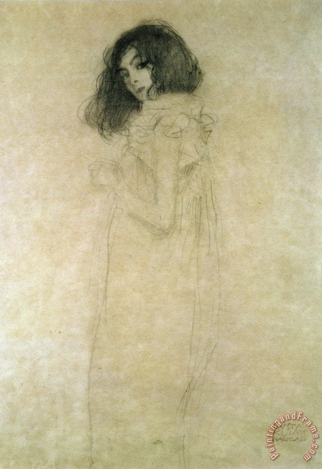 Gustav Klimt Portrait of a young woman Art Print