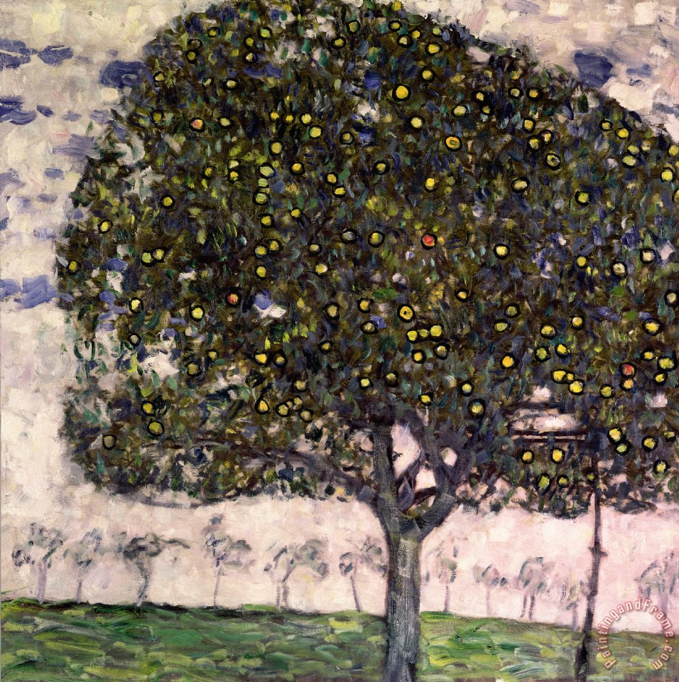 The Apple Tree II painting - Gustav Klimt The Apple Tree II Art Print