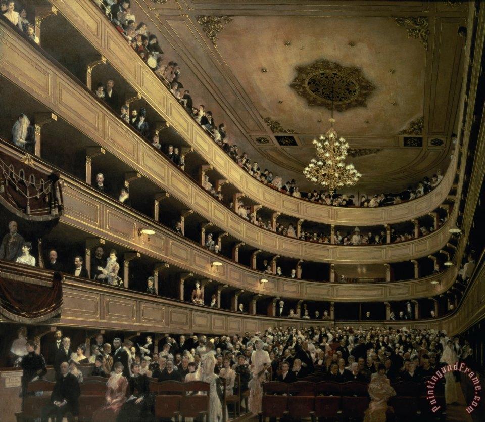Gustav Klimt The Auditorium Of The Old Castle Theatre